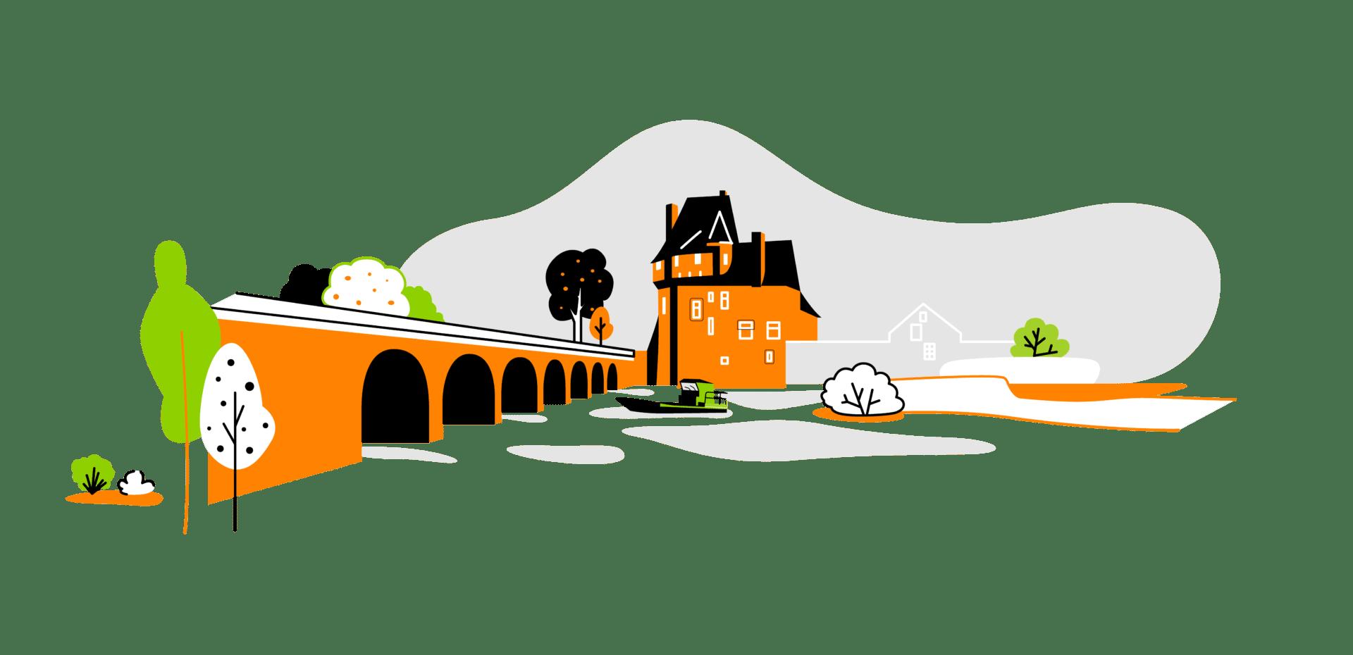 Illustration réalisée pour le projet de territoire intelligent d'Angers Loire Métropole