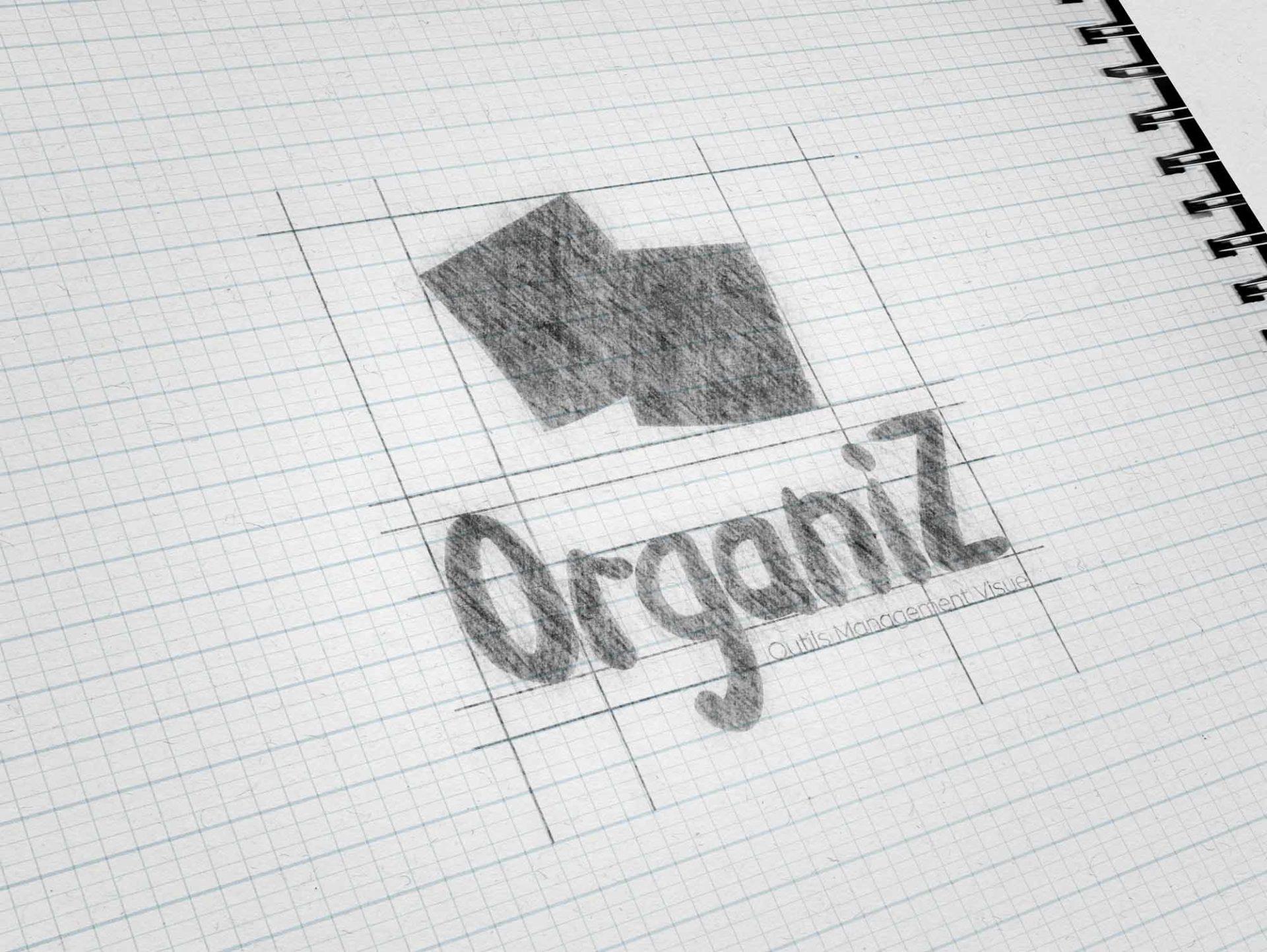 Croquis logo OrganiZ fait par RouleMarcel