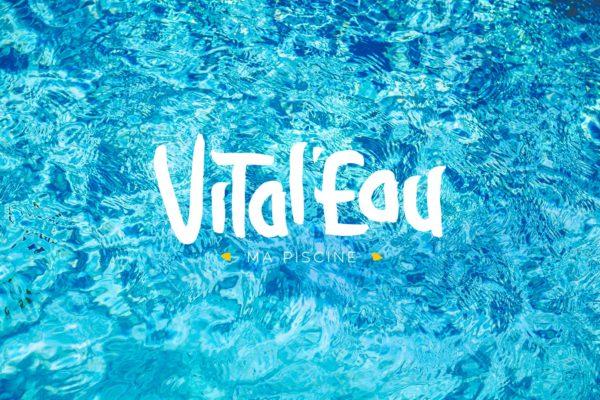 Projet Vital'Eau Logo en défonce sur une image