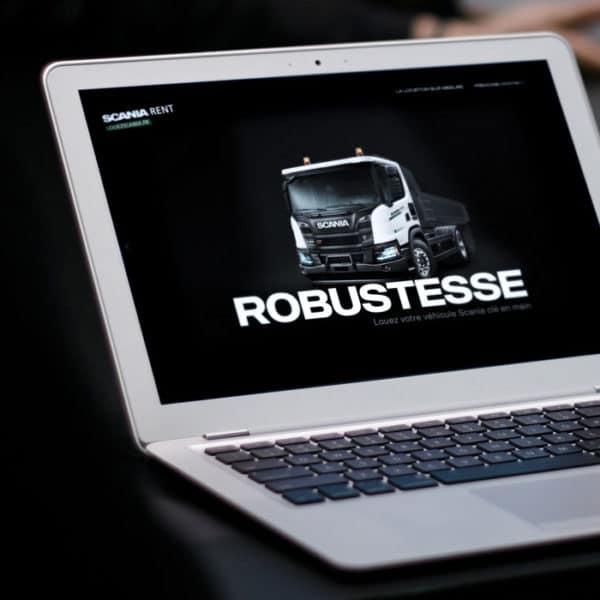 Cover de présentation de la fiche projet Scania Rent