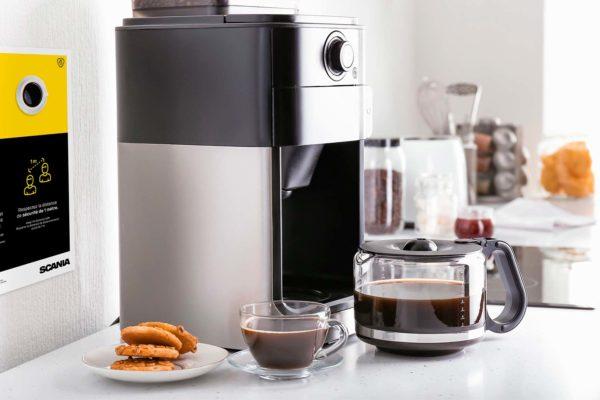 Espace machine à café aux règles COVID 19