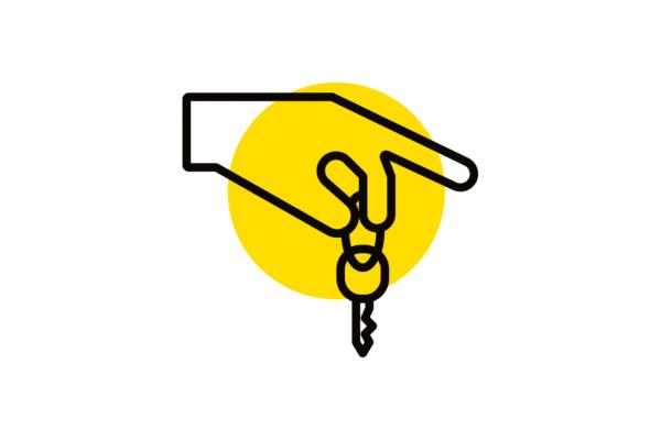 Picto dépose clés