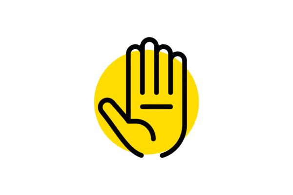 Picto main qui dit stop
