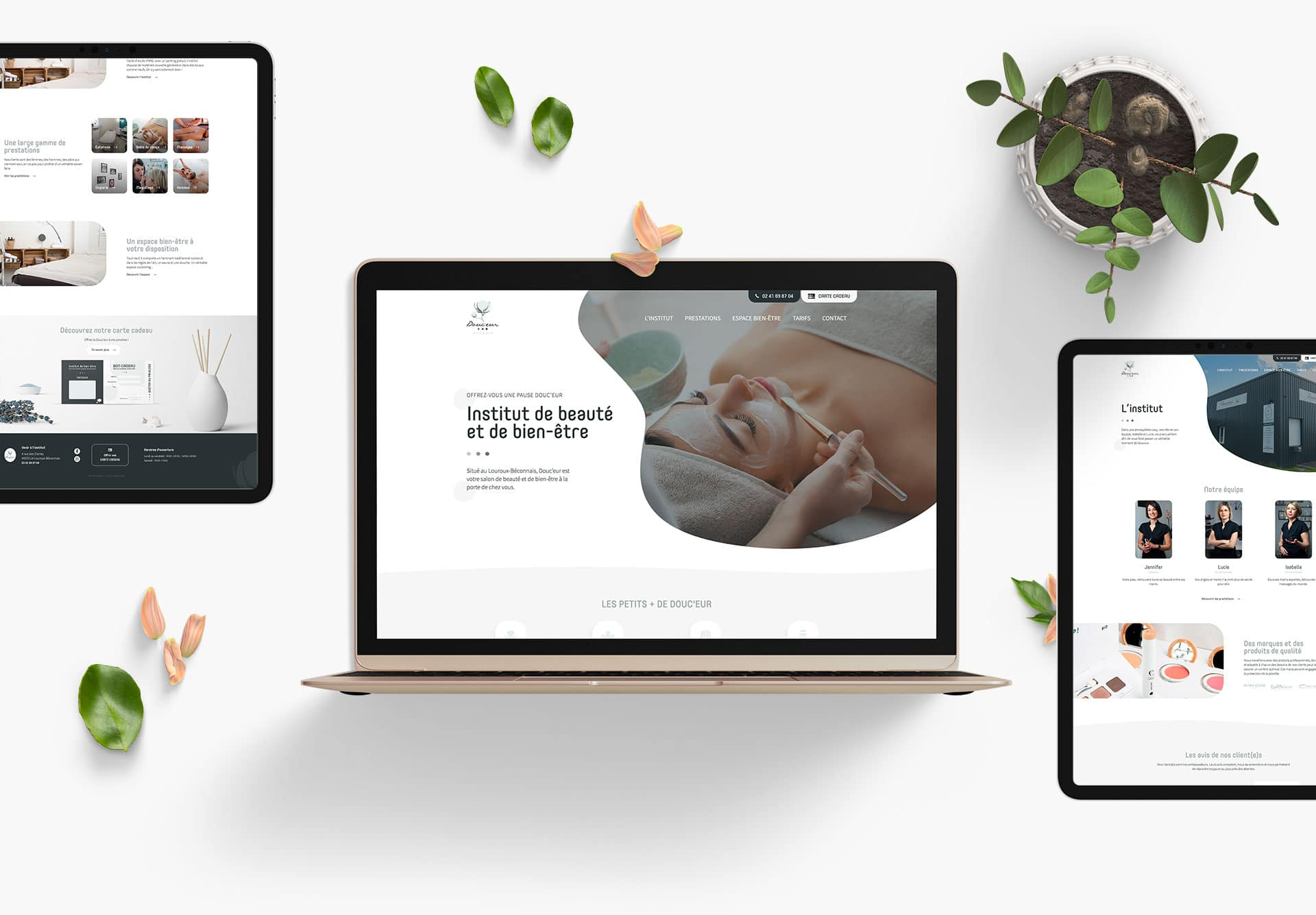 Création du site internet de Douceur