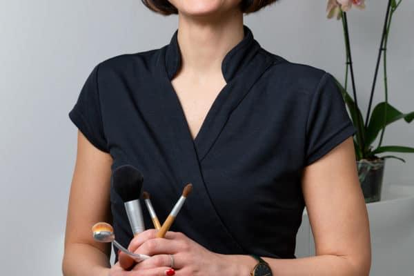 Portrait de la gérante de l'équipe de l'institut Douceur