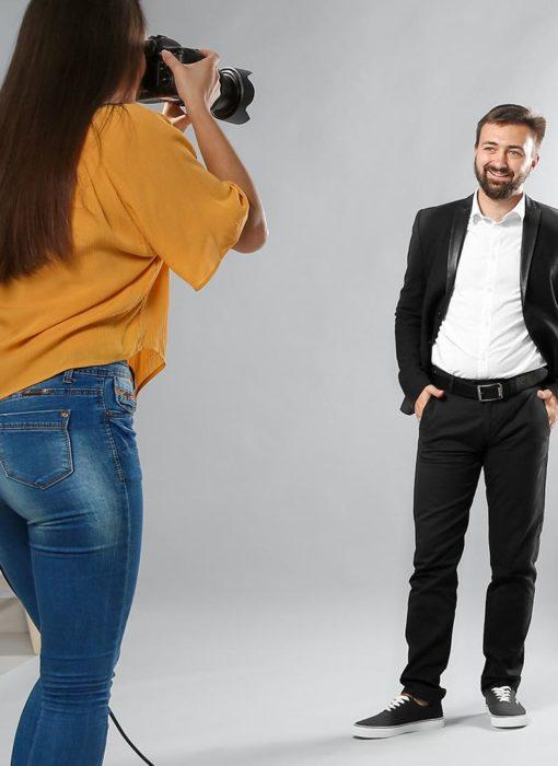 Séance photo en studio pour une entreprise