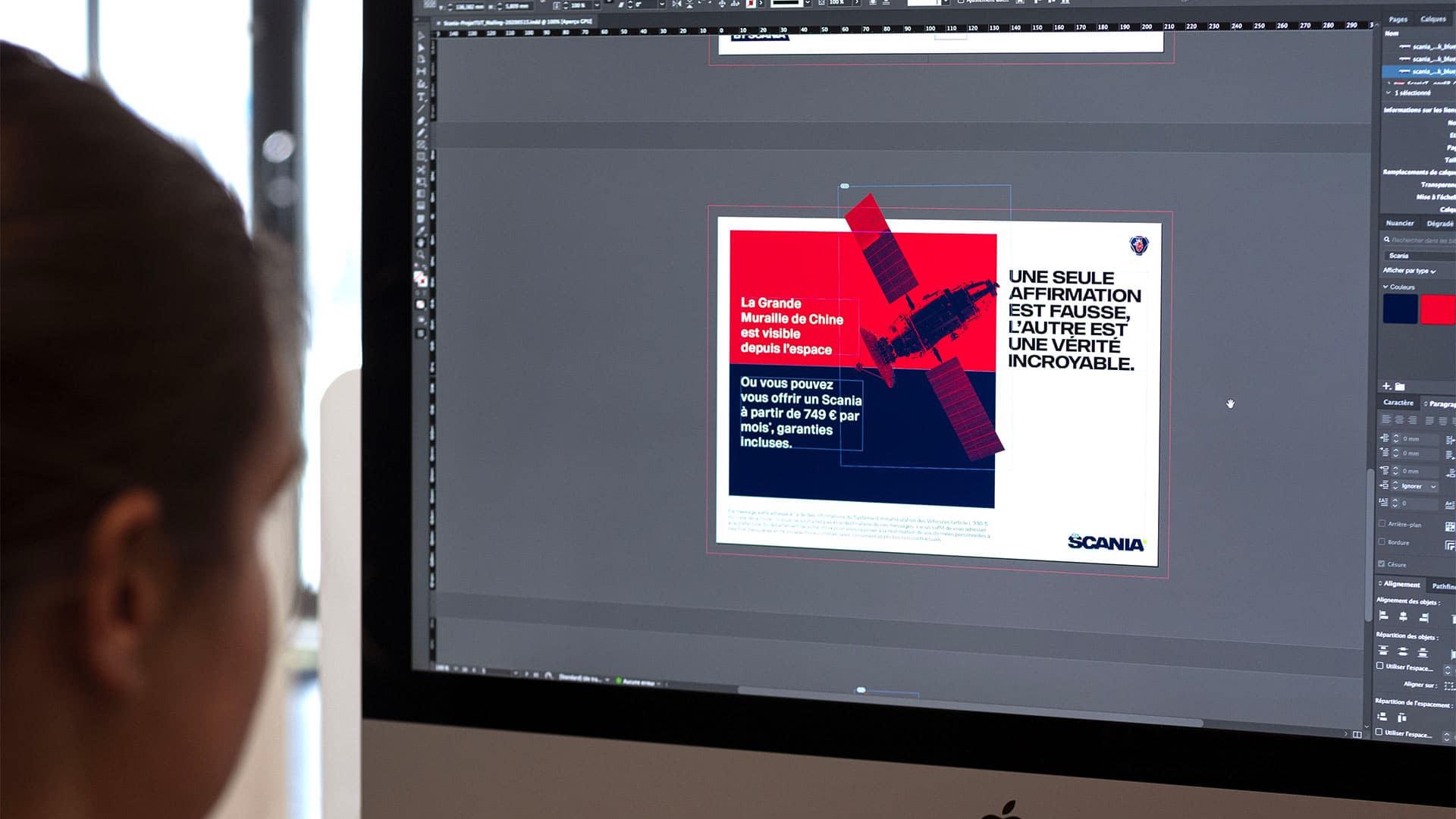 Création du mailing sur Adobe Indesign