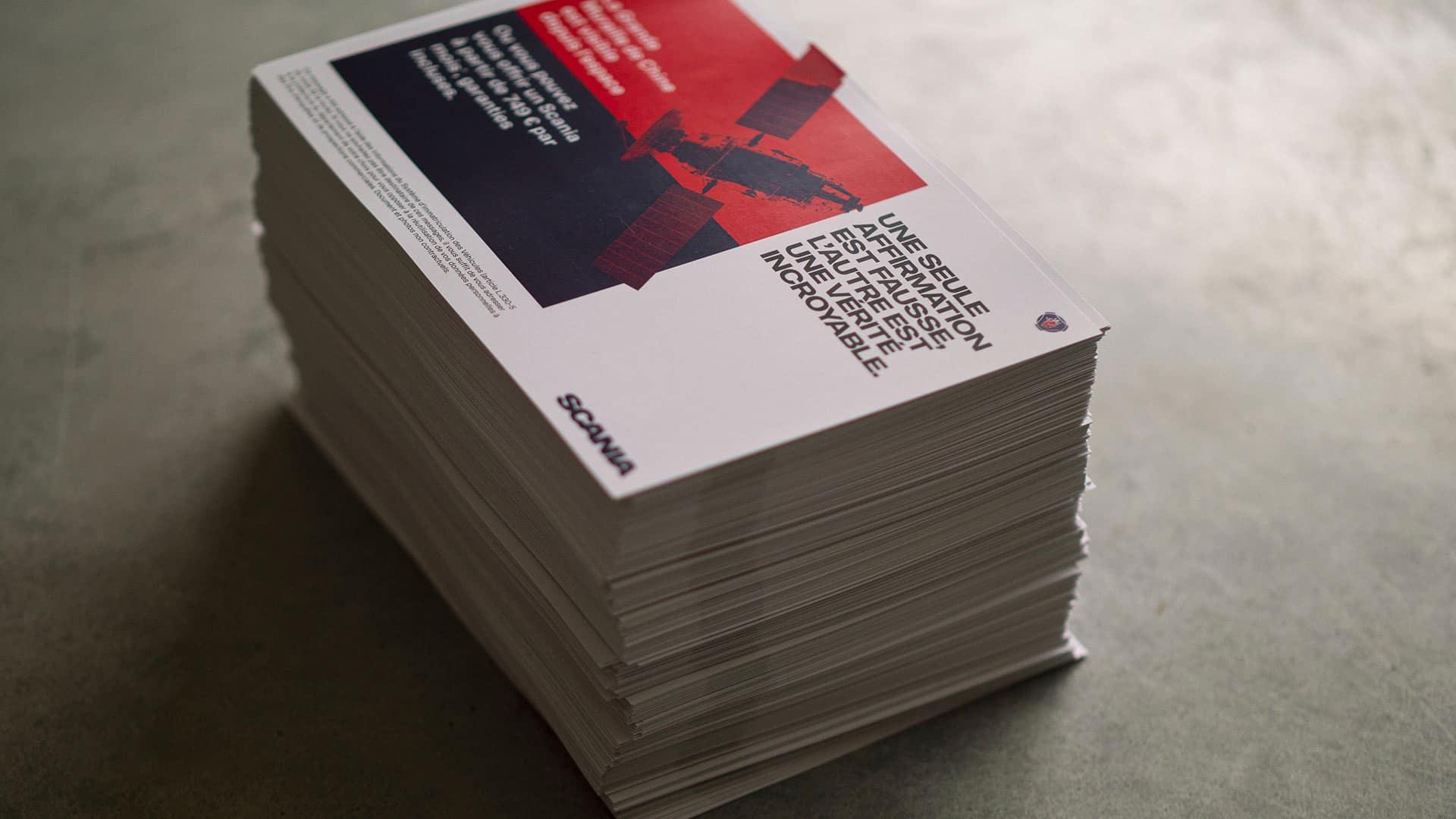 Mailing imprimé prêt à être envoyé