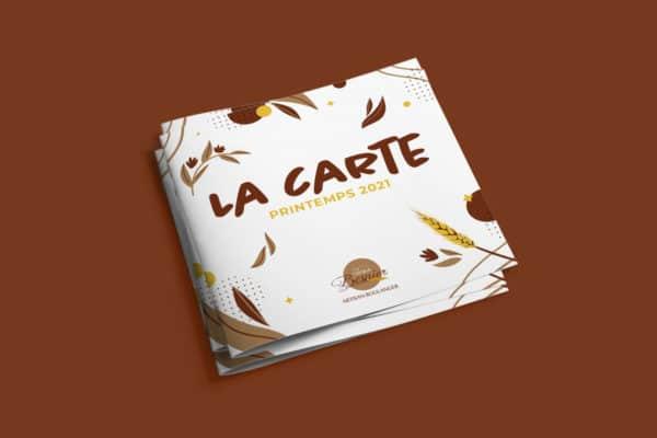 pile de cartes printemps 2021 telles que présentées dans les boulangeries de Florian Besnier