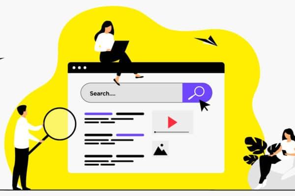Illustration veille avec une entreprise autour d'un moteur de recherche