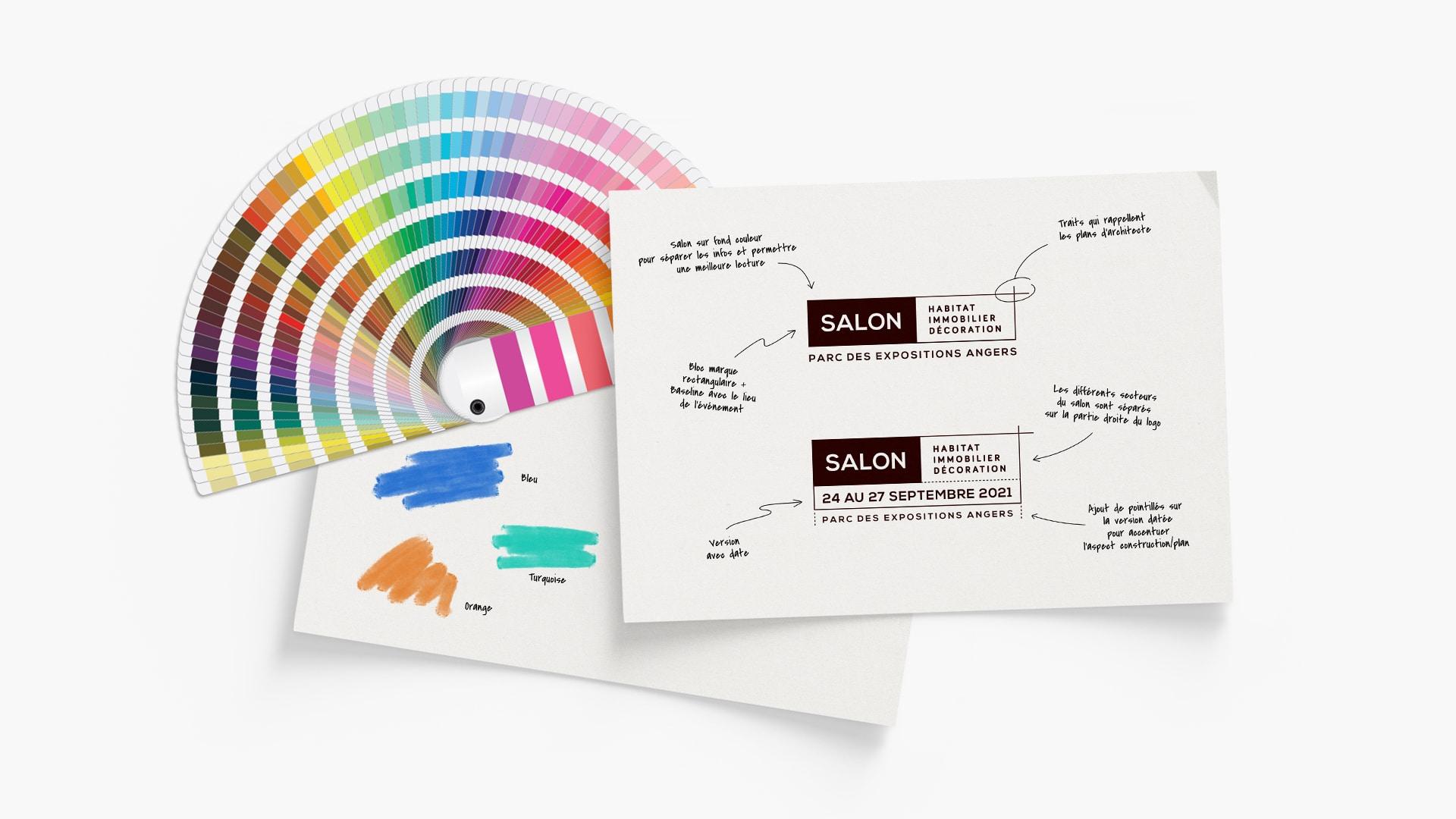 Nouveau bloc marque avec explications, nuancier et couleurs choisies